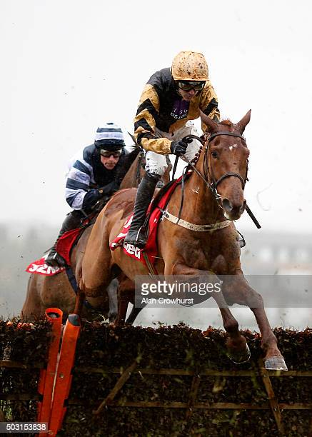 Ruby Walsh riding Yorkhill on their way to winning The 32Red Tolworth Novices' Hurdle Race at Sandown racecourse on January 02 2016 in Esher England