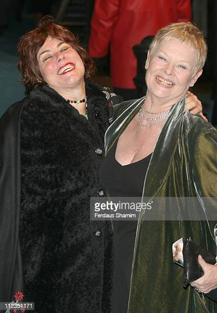 Ruby Wax and Dame Judi Dench during Mrs Henderson Presents London Premiere at Vue West End in London Great Britain