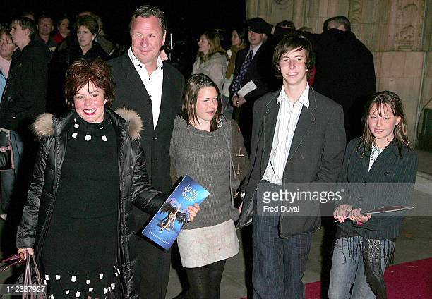 Ruby Wax and Family during 'Cirque du Soleil Alegria' Press Night Arrivals at Royal Albert Hall in London Great Britain