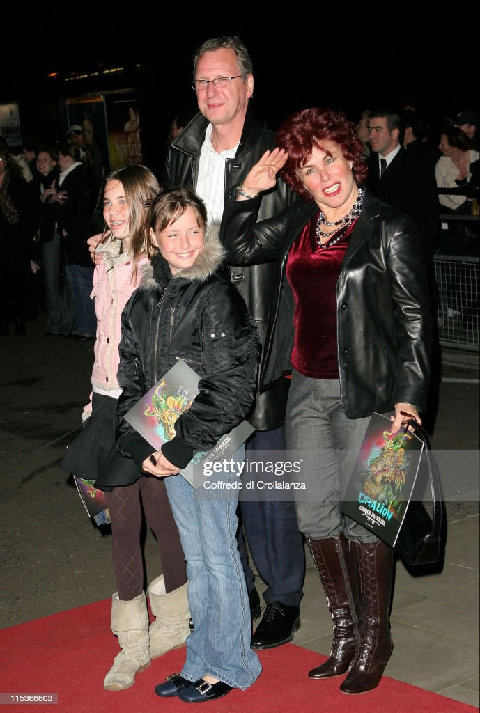 Ruby Wax and family during Cirque du Soleil's 20th Anniversary of 'Dralion' at Royal Albert Hall in London, Great Britain.