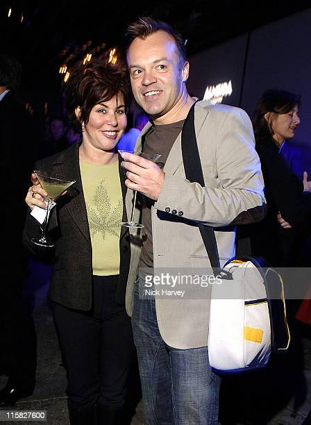 Ruby Wax and Graham Norton during The Hypochondriac Christmas Gala Performance at Almeida Theatre in London Great Britain