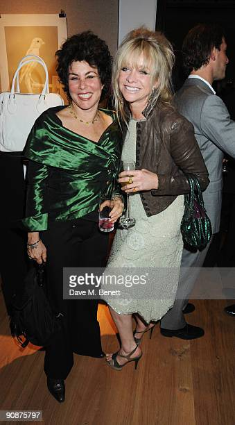 Ruby Wax and Jo Wood at the 'Liver Good Life' Charity Party at Christies on September 16 2009 in London England