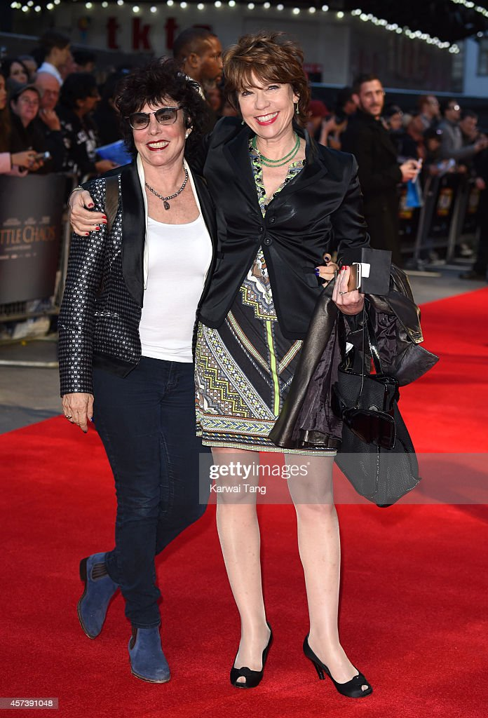 Ruby Wax and Kathy Lette attend a screening of 'A Little Chaos' during the 58th BFI London Film Festival at Odeon West End on October 17, 2014 in London, England.