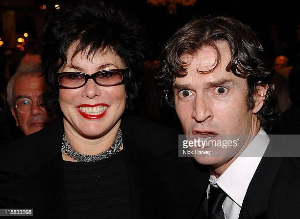 Ruby Wax and Rupert Everett during Chain of Hope Autumn Ball at Dorchester Hotel in London Great Britain