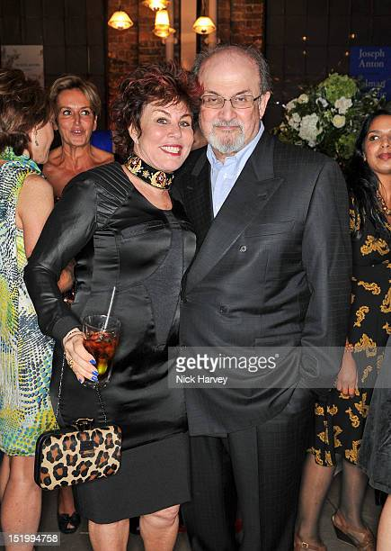 Ruby Wax and Salman Rushdie attend the launch of Salman Rushdie's new book 'Joseph Anton A Memoir' on September 14 2012 in London England