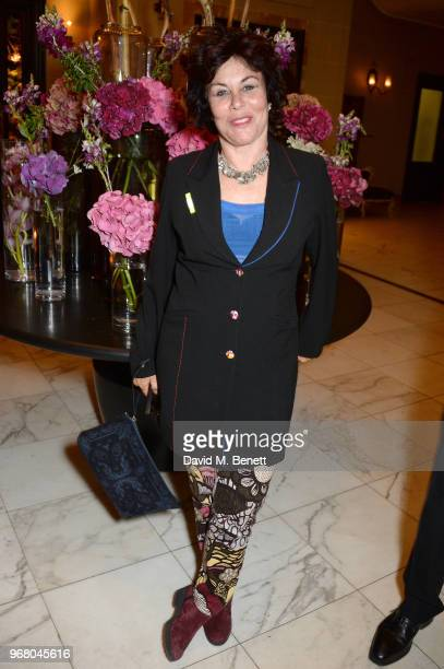 Ruby Wax attends an after party following the UK Premiere of 'The Happy Prince' hosted by Justine Picardie editor of Harper's Bazaar at Cafe Royal on...