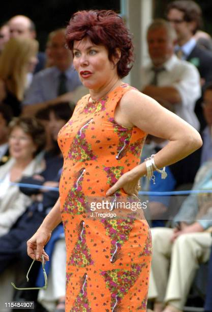 Ruby Wax during House Of Lords v House Of Commons Tug Of War 2005 at Victoria Tower Gardens in London Great Britain