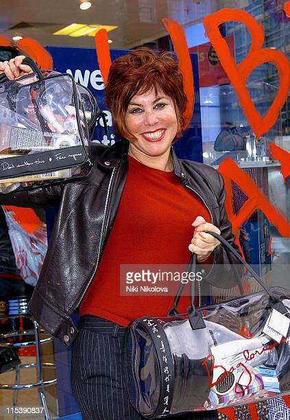 Ruby Wax during Ruby Wax Launches 'The Ultimate Bag Woman' Line October 22 2005 at Boots at High Street Kensington in London Great Britain