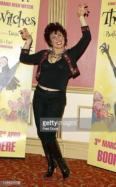 Ruby Wax during Ruby Wax Stars as The Grand High Witch in The Witches by Roald Dahl at Wyndhams Theatre in London United Kingdom
