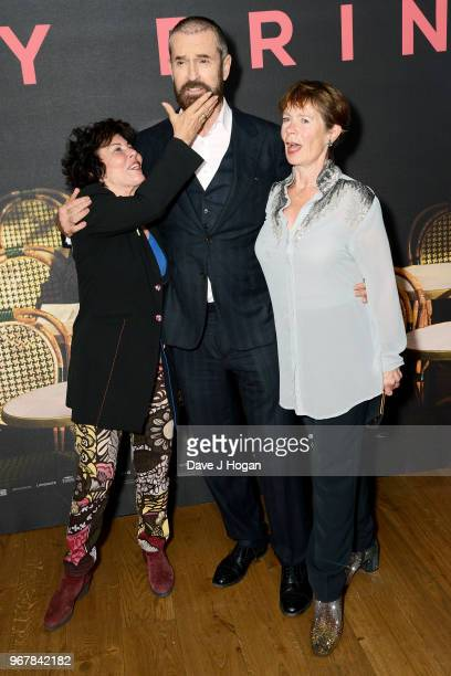 Ruby Wax Rupert Everett and Celia Imrie attend the UK premiere of 'The Happy Prince' at Vue West End on June 5 2018 in London England