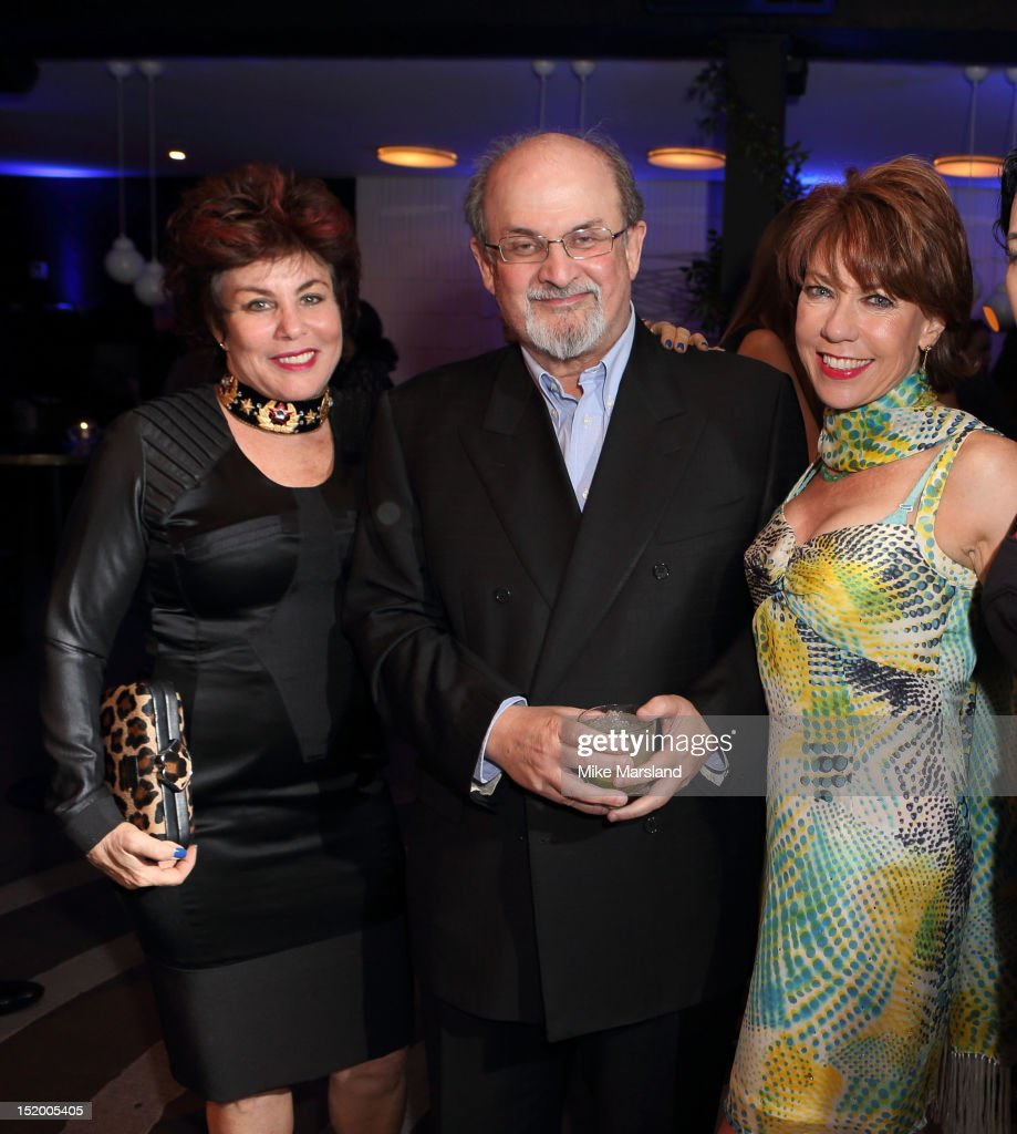 Ruby Wax, Salman Rushdie and Kathy Lette attend the launch of Salman Rushdie's new book 'Joseph Anton' on September 14, 2012 in London, England.