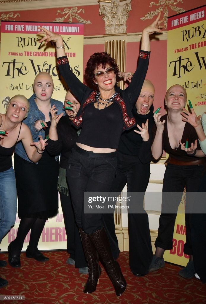 Ruby Wax , who plays The Grand High Witch, with cast members  News