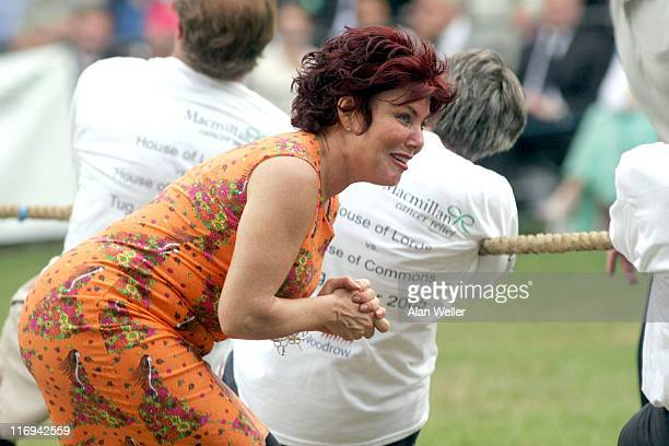 Ruby Wax with the House of Lords team during House of Lords vs House of Commons Tug of War June 21 2005 at Victoria Tower Gardens in London Great...