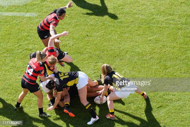 Ruck is seen during the round 1 Farah Palmer Cup match between Canterbury and Wellington at Orangetheory Stadium on August 31, 2019 in Christchurch,...