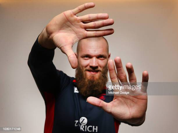 Ruckman Max Gawn of the Demons poses during a Melbourne Demons AFL media opportunity at AAMI Park on September 10 2018 in Melbourne Australia