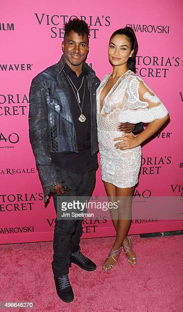 Ruckus and model Shanina Shaik attend the 2015 Victoria's Secret Fashion Show after party at TAO Downtown on November 10 2015 in New York City