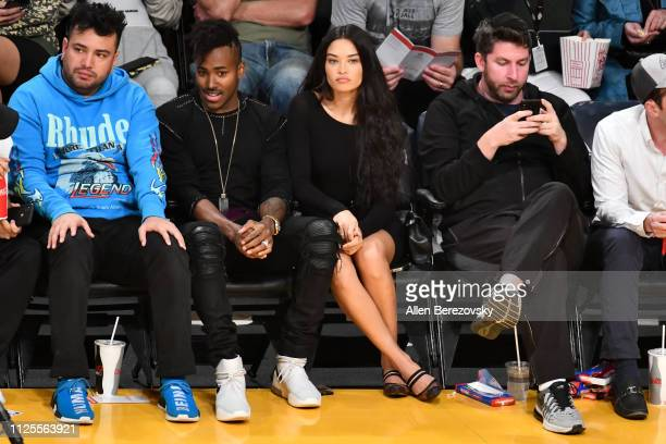 Ruckus and Shanina Shaik attend a basketball game between the Los Angeles Lakers and the Phoenix Suns at Staples Center on January 27 2019 in Los...