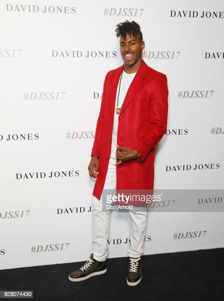 Ruckus arrives ahead of the David Jones Spring Summer 2017 Collections Launch at David Jones Elizabeth Street Store on August 9 2017 in Sydney...