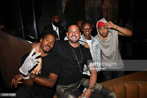 DJ Ruckus James Cruz Gianni Harrell and Quincy Brown attend the 8th Annual Remember The Time Michael Jackson Tribute at 1OAK on June 26 2016 in West...