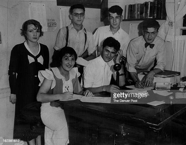 JUL 7 1934 Rude Park Community Center The Hustle and bustle of newspaper offices appeal to these high school pupils who are members of the newly...