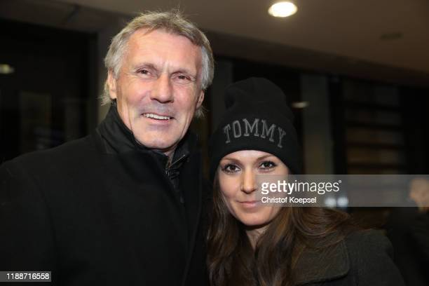 Rudi Bommer and daughter Jenny Bommer attend the Club Of Former National Players Meeting at Commerzbank Arena on November 19, 2019 in Frankfurt am...
