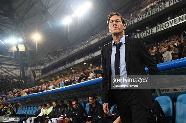 Rudi Garcia Coach of Marseille during the French Ligue 1 match between Marseille and Bordeaux at Stade Velodrome on October 30 2016 in Marseille...