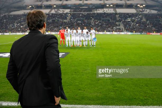 Rudi Garcia coach of Marseille during the Uefa Europa League match between Olympique de Marseille and Red Bull Salzburg at Stade Velodrome on...