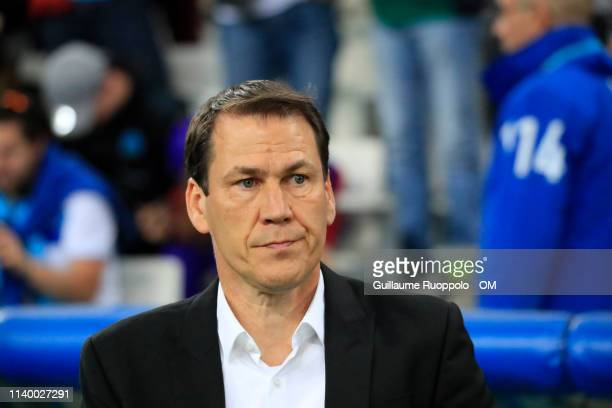 Rudi Garcia during the Ligue 1 match between Olympique de Marseille and FC Nantes at Stade Velodrome on April 28, 2019 in Marseille, France.