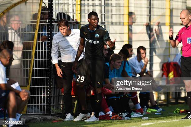 Rudi Garcia head coach of Marseille during the friendly match between Marseille and Villarreal on July 21 2018 in Le Pontet France