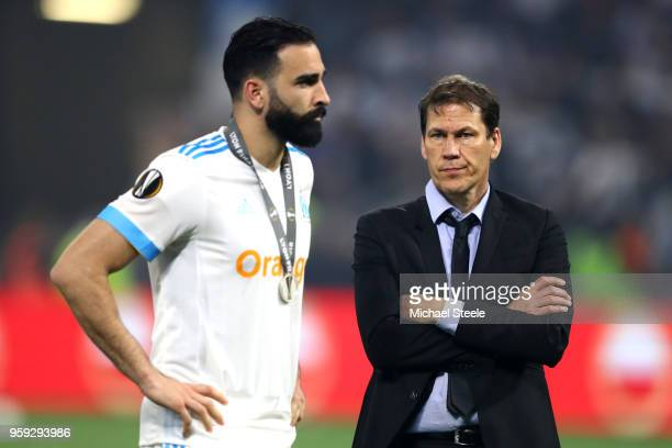 Rudi Garcia head coach of Marseille looks dejected following the UEFA Europa League Final between Olympique de Marseille and Club Atletico de Madrid...