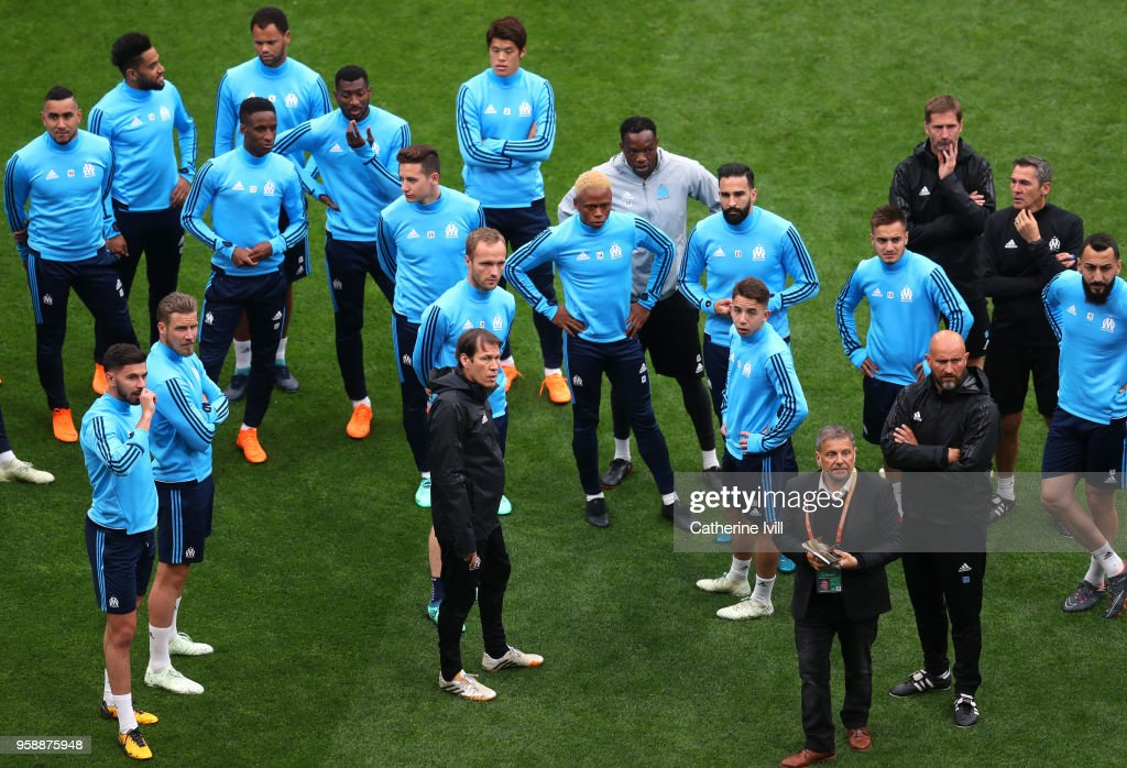 Olympique de Marseille Training Session - UEFA Europa League Final Previews : News Photo