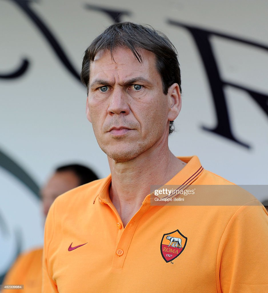 Rudi Garcia head coach of Roma during the friendly match between AS Roma and Indonesia U23 at Stadio Centro d'Italia - Manlio Scopigno on July 18, 2014 in Rieti, Italy.