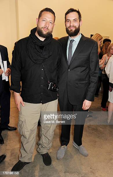 Rudi Glatz and Sandro Kopp attend the Bottletop/Full Circle 2013 Summer Party at Victoria Miro Gallery on June 7 2013 in London England