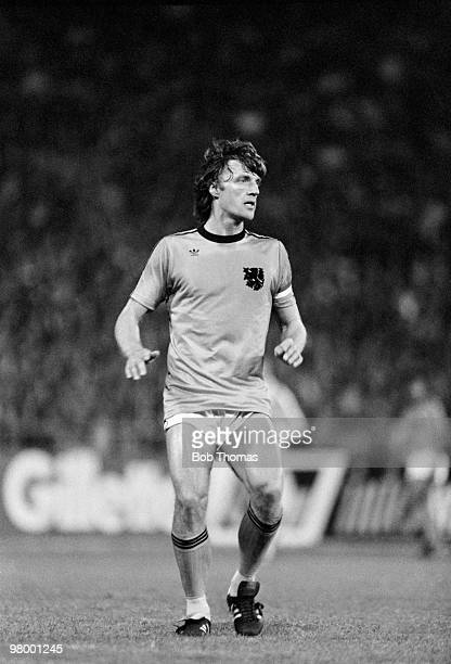 Rudi Krol in action for Holland against Argentina during the FIFA 75th Anniversary Match at the Wankdorf Stadium in Berne 22nd May 1979 The match...
