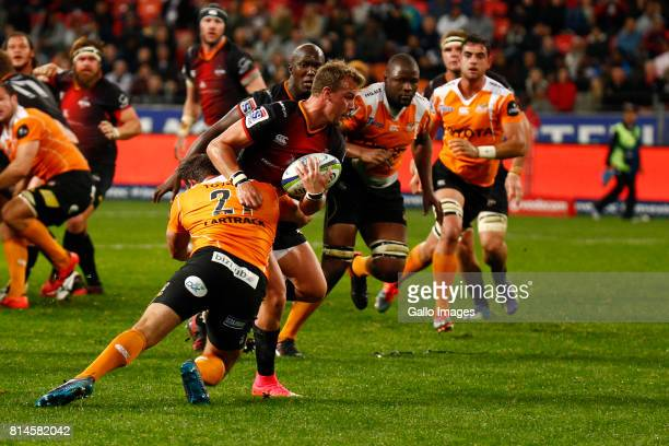 Rudi van Rooyen of the Southern Kings during the Super Rugby match between Southern Kings and Toyota Cheetahs at Nelson Mandela Bay Stadium on July...