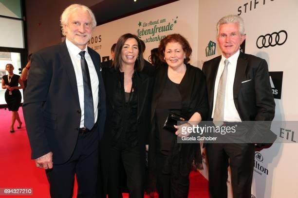 Rudi Voeller and his wife Sabrina Voeller, Jupp Heynckes and his wife Iris Heynckes during the Toni Kroos charity gala benefit to the Toni Kroos...