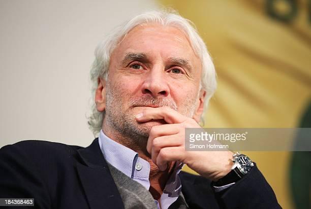 Rudi Voeller attends the WM 2014 discussion forum of Kulturstadion at Frankfurt Book Fair on October 13 2013 in Frankfurt am Main Germany