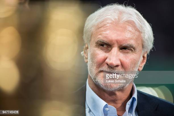 Rudi Voeller of Leverkusen looks on prior to the DFB Cup semi final match between Bayer 04 Leverkusen and Bayern Muenchen at BayArena on April 17...