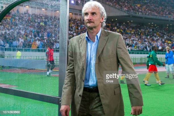 Rudi VOLLER of Germany during the FIFA World Cup match between Cameroon and Germany on June 11 2002 in Ecopa de Shizuoka stadium Japan