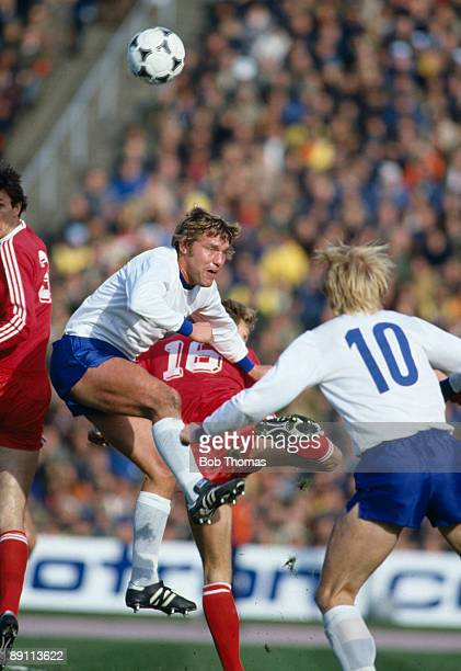 Rudiger Schnuphase in action for East Germany against Poland in their FIFA World Cup Qualiyfing match in Leipzig 10th October 1981 Poland won 32