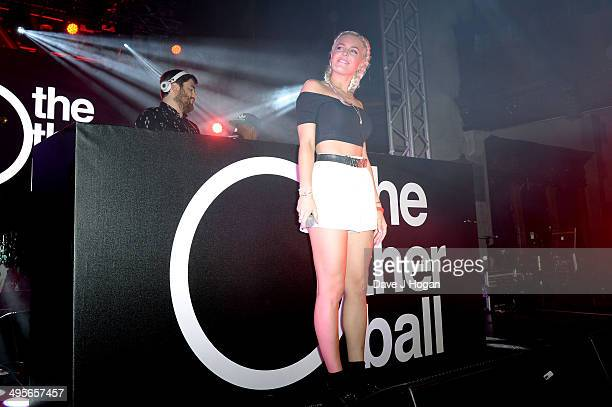 Rudimental and singer AnneMarie Nicholson perform at The Other Ball in aid of Arms Around The Child at One Mayfair on June 4 2014 in London England