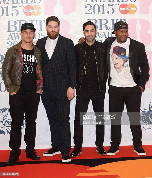 Rudimental attend the BRIT Awards 2015 at The O2 Arena on February 25 2015 in London England