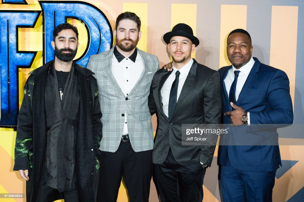 Rudimental attend the European Premiere of 'Black Panther' at Eventim Apollo on February 8, 2018 in London, England.