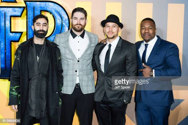 Rudimental attend the European Premiere of 'Black Panther' at Eventim Apollo on February 8 2018 in London England