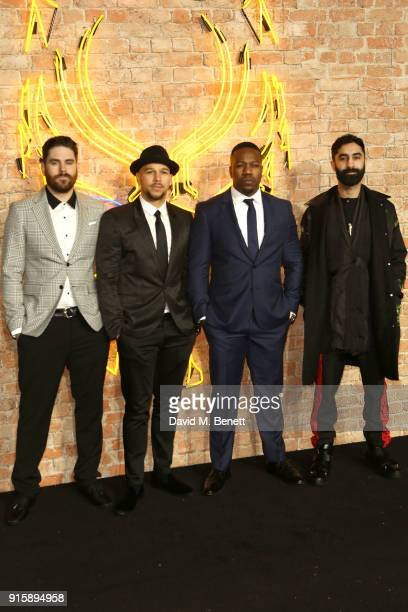 Rudimental attend the European Premiere of Black Panther at the Eventim Apollo on February 8 2018 in London England