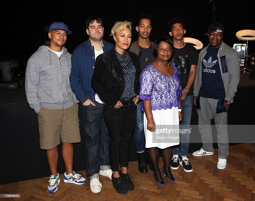Rudimental, Emeli Sande, Rizzle Kicks and Doreen Lawrence attend a photocall to announce 'Unity - A Concert for Stephen Lawrence' at Abbey Road Studios on June 18, 2013 in London, England.