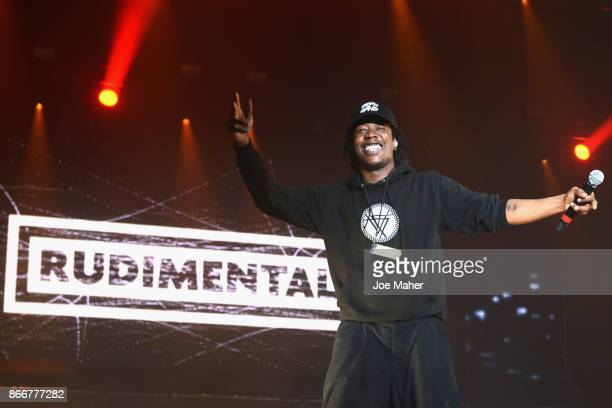 Rudimental perform on stage during the Kiss Haunted House Party held at SSE Arena on October 26 2017 in London England