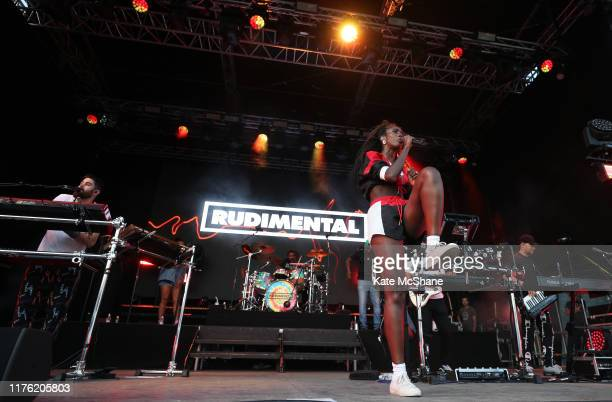Rudimental perform on the Slingsby Show Stage following Day Three of the BMW PGA Championship at Wentworth Golf Club on September 21 2019 in Virginia...