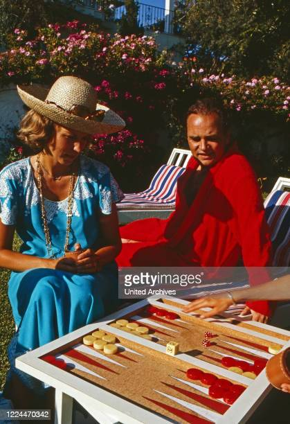Rudolf Count of Schoenburg Glauchau with his wife Marie Louise, nee of Prussia at Marbella, Spain, 1992.