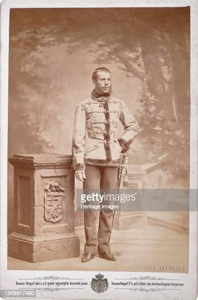 Rudolf, Crown Prince of Austria , ca 1880-1885. Private Collection. Artist Photo studio C. K. Dvorni Prague. .
